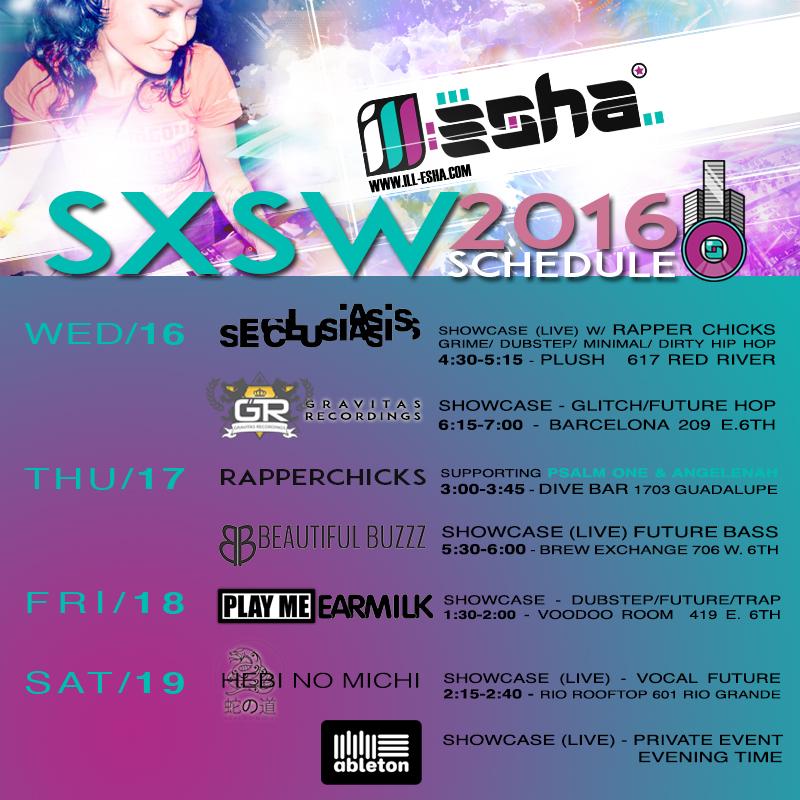 ill-esha sxsw 2016 schedule
